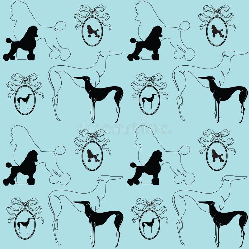 κομψός άνευ ραφής σκυλιών ανασκόπησης απεικόνιση αποθεμάτων