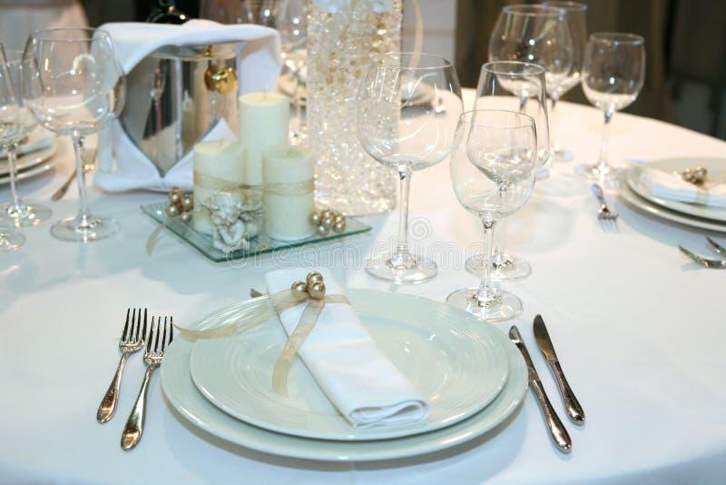 κομψός γάμος γευμάτων στοκ εικόνες