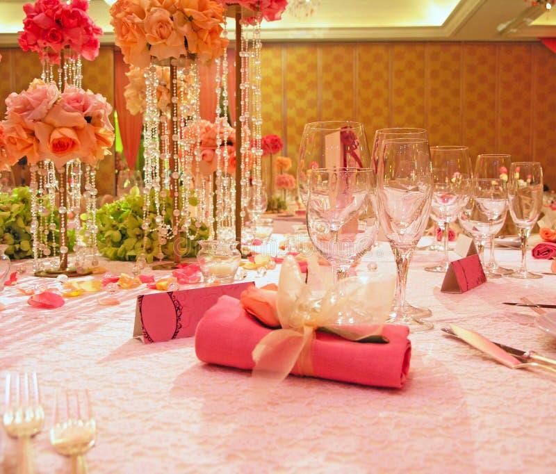 κομψός επιτραπέζιος γάμος στοκ φωτογραφία