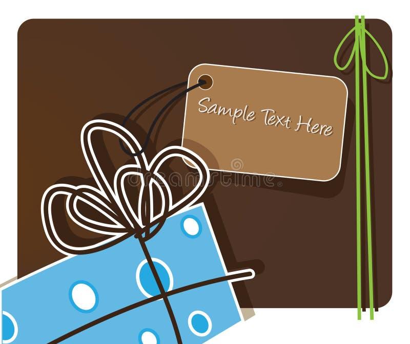 κομψός χαιρετισμός δώρων &kappa απεικόνιση αποθεμάτων