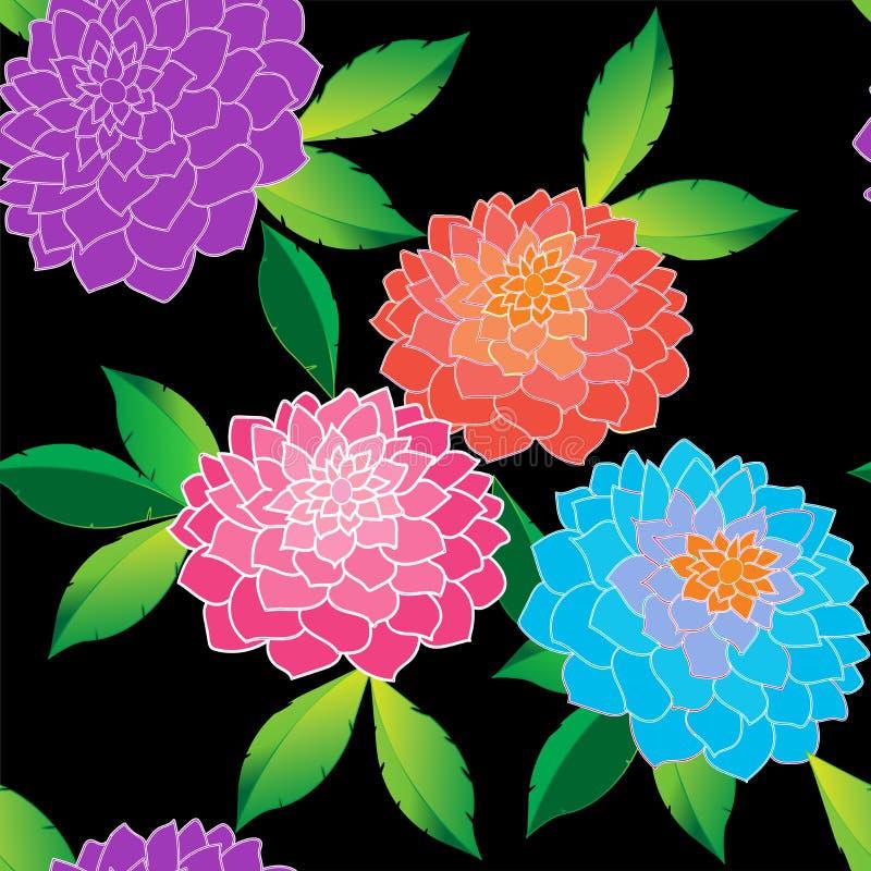 Κομψός floral άνευ ραφής επαναλαμβάνει το σχέδιο απεικόνιση αποθεμάτων