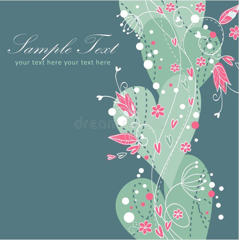 κομψός floral βαλεντίνος καρτών αγάπης ελεύθερη απεικόνιση δικαιώματος