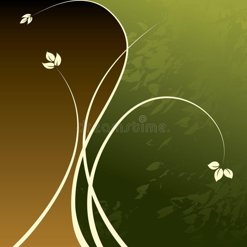 κομψός floral σχεδίου διανυσματική απεικόνιση
