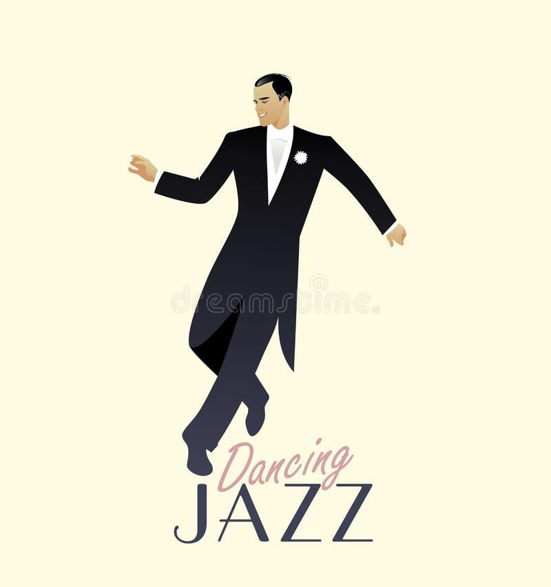 Κομψό άτομο που φορά την κλασική τζαζ χορού ιματισμού ύφους ελεύθερη απεικόνιση δικαιώματος