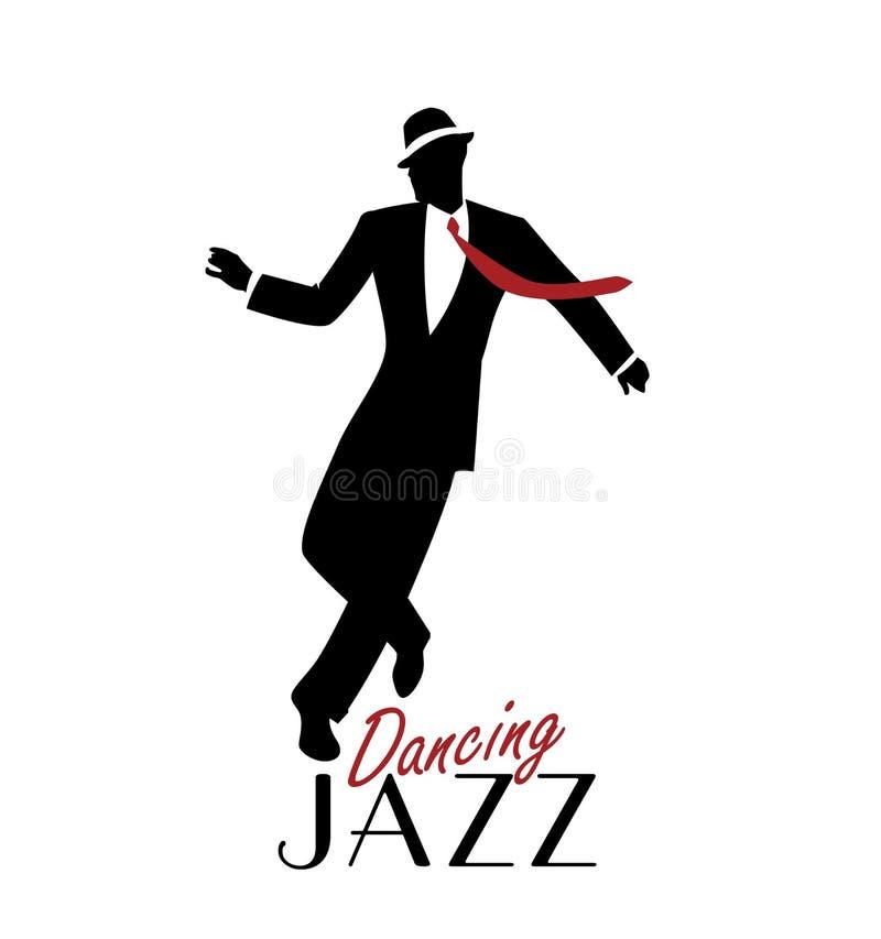 Κομψό άτομο που φορά την κλασική τζαζ χορού ιματισμού ύφους διανυσματική απεικόνιση