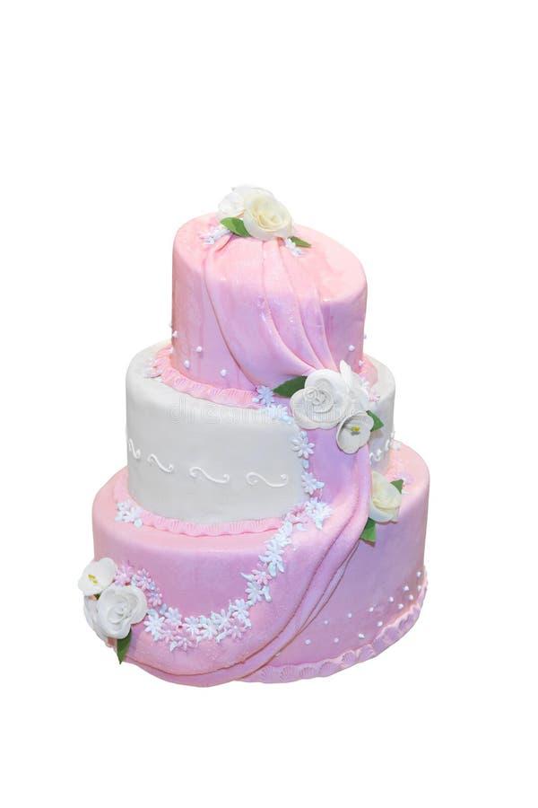 Κομψό γαμήλιο κέικ στοκ φωτογραφίες
