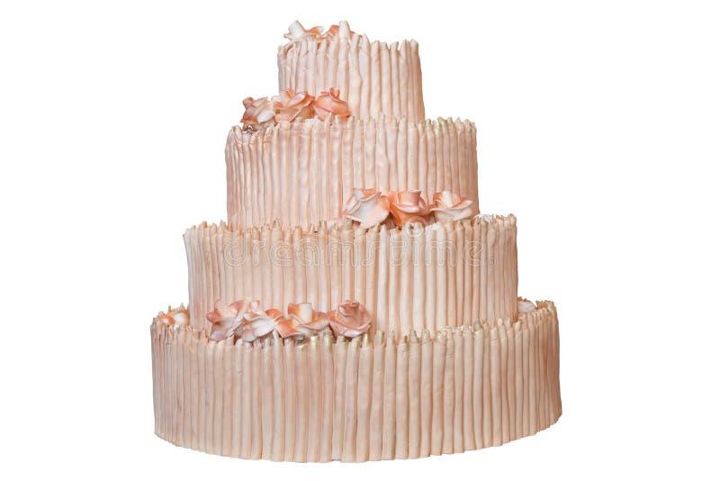 Κομψό γαμήλιο κέικ στοκ φωτογραφίες με δικαίωμα ελεύθερης χρήσης