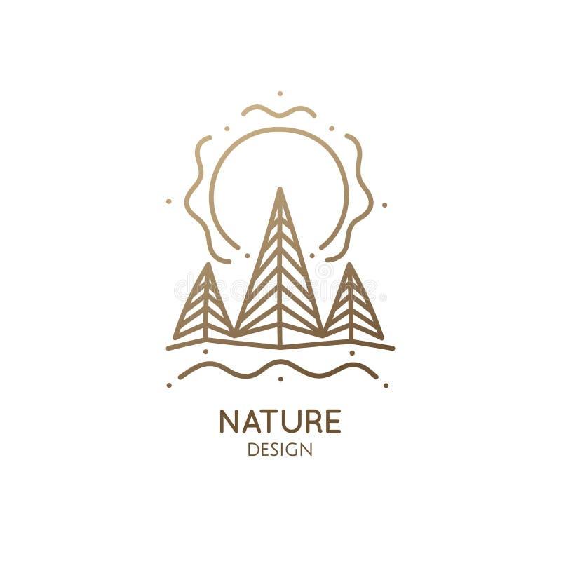 Κομψό δασικό λογότυπο ελεύθερη απεικόνιση δικαιώματος