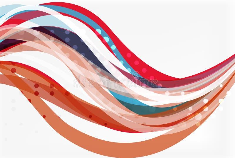 Κομψό ζωηρόχρωμο κύμα, λωρίδες ελεύθερη απεικόνιση δικαιώματος