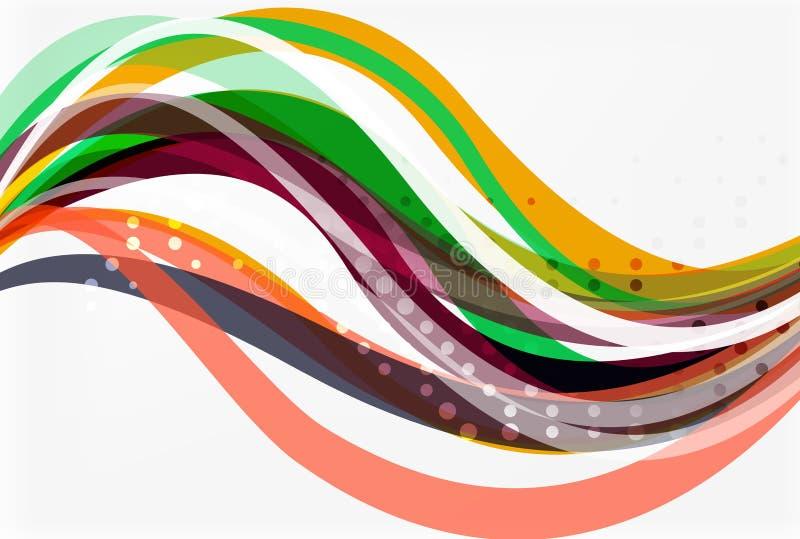 Κομψό ζωηρόχρωμο κύμα, λωρίδες απεικόνιση αποθεμάτων