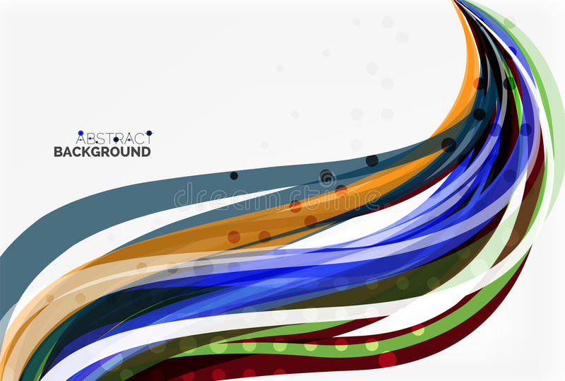 Κομψό ζωηρόχρωμο κύμα, λωρίδες διανυσματική απεικόνιση