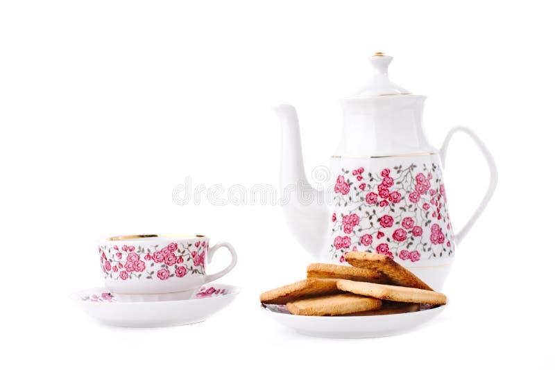 κομψό καθορισμένο τσάι πορσελάνης στοκ εικόνα με δικαίωμα ελεύθερης χρήσης