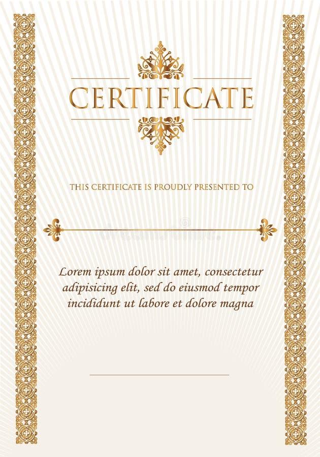 Κομψό κλασικό πιστοποιητικό του επιτεύγματος απεικόνιση αποθεμάτων