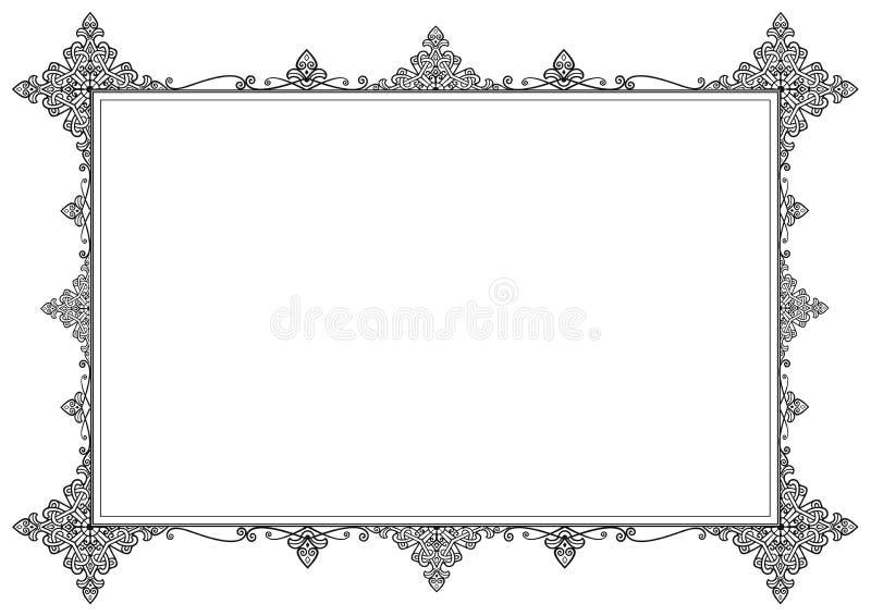 Κομψό μαύρο εκλεκτής ποιότητας πλαίσιο διανυσματική απεικόνιση