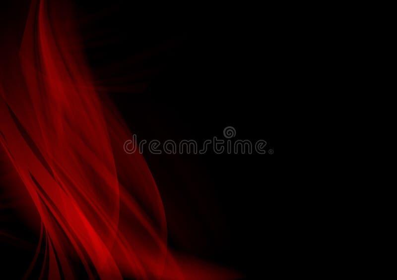 Κομψό μαύρο και κόκκινο σχέδιο υποβάθρου στοκ εικόνες