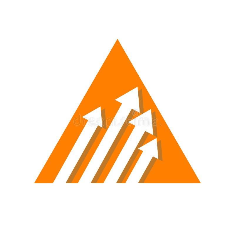 Κομψό πρότυπο διανυσματικού εικονιδίου λογότυπου βέλους Creative Abstract στοκ φωτογραφία με δικαίωμα ελεύθερης χρήσης