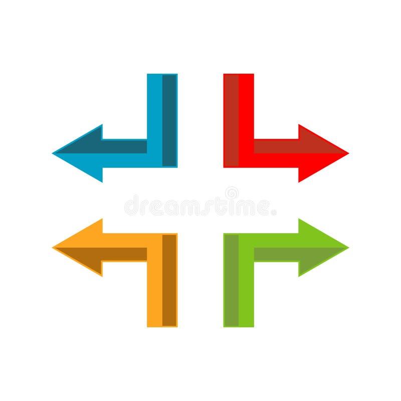 Κομψό πρότυπο διανυσματικού εικονιδίου λογότυπου βέλους Creative Abstract στοκ φωτογραφία