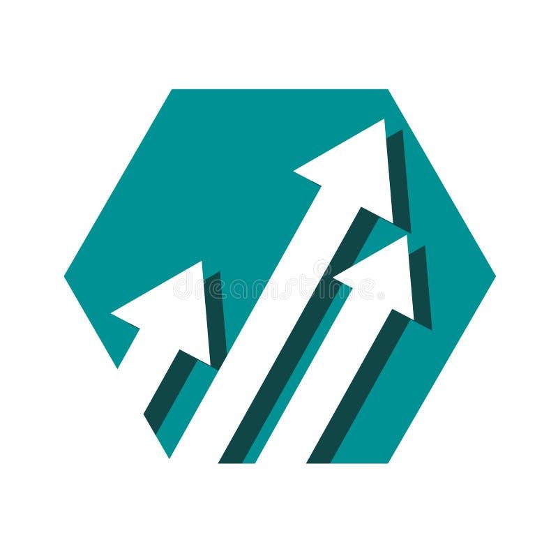 Κομψό πρότυπο διανυσματικού εικονιδίου λογότυπου βέλους Creative Abstract στοκ εικόνα με δικαίωμα ελεύθερης χρήσης