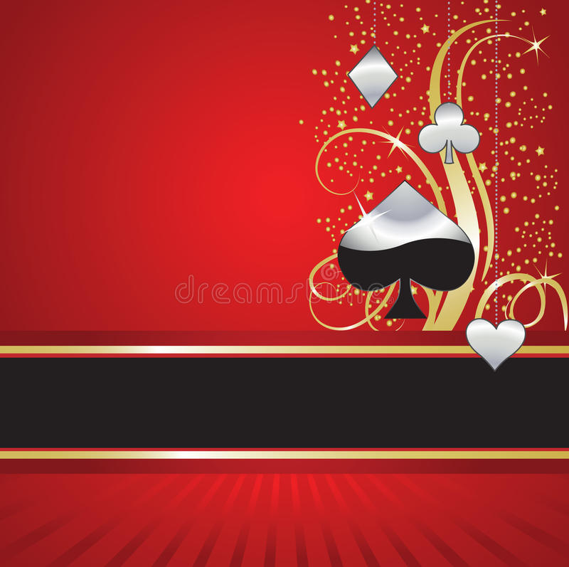 κομψό πόκερ διασκέδασης απεικόνιση αποθεμάτων