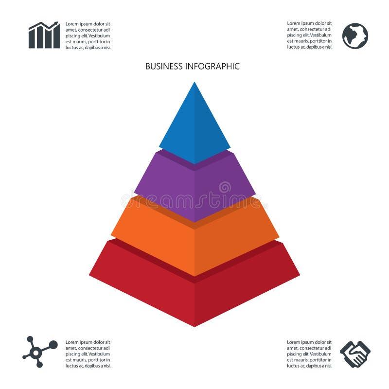 Κομψό σχέδιο επιχειρησιακού Infographic τριγώνων διανυσματική απεικόνιση