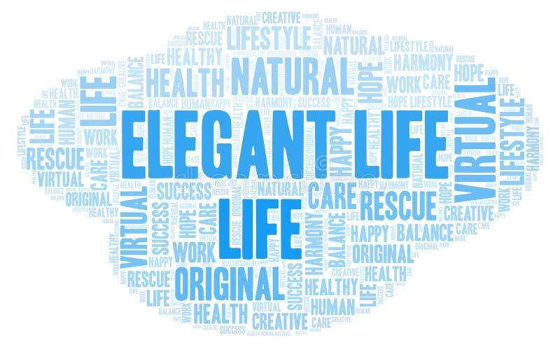 Κομψό σύννεφο λέξης ζωής απεικόνιση αποθεμάτων