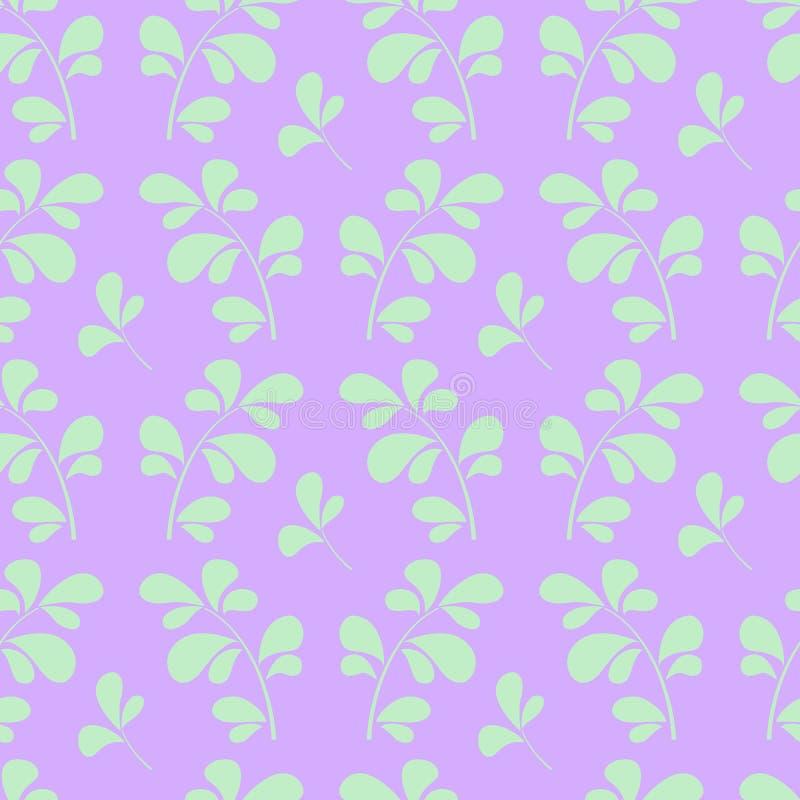 Κομψό damask δύο χρώματος διανυσματικό άνευ ραφής σχέδιο διανυσματική απεικόνιση