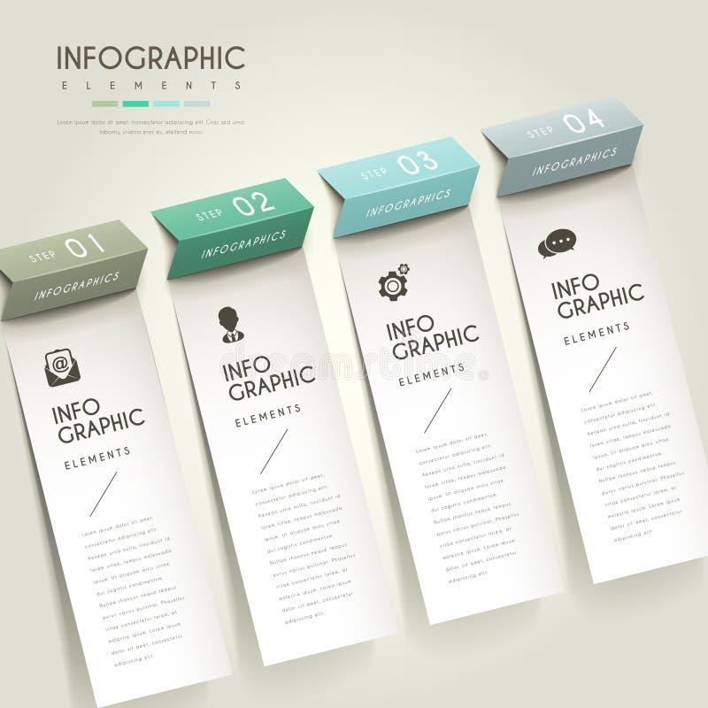 Κομψό infographic σχέδιο απεικόνιση αποθεμάτων