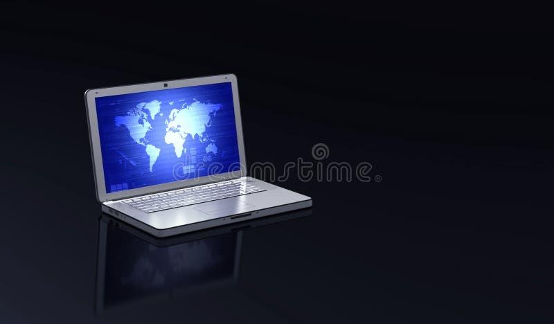 κομψό lap-top απεικόνιση αποθεμάτων