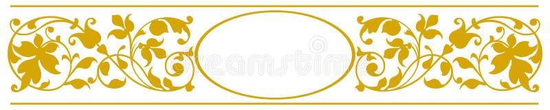 κομψό oval πλαισίων διανυσματική απεικόνιση