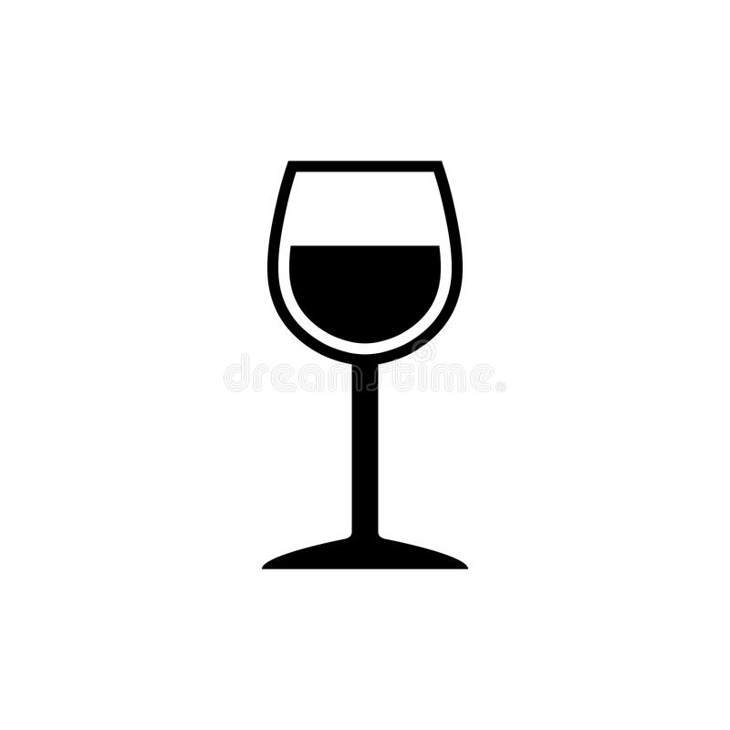 Κομψό Wineglass σύμβολο απεικόνιση αποθεμάτων