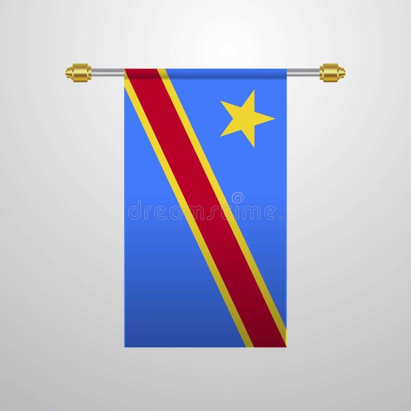 Κομόρες που κρεμούν τη σημαία διανυσματική απεικόνιση