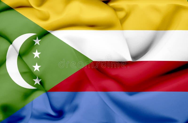 Κομόρες που κυματίζουν τη σημαία ελεύθερη απεικόνιση δικαιώματος