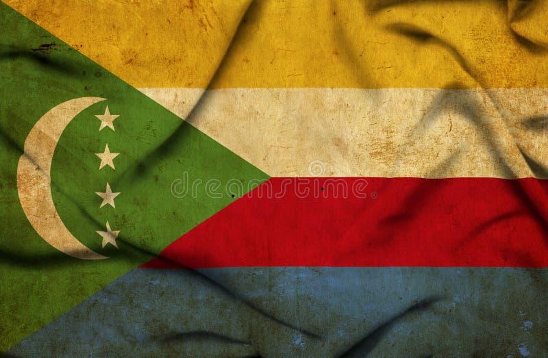 Κομόρες που κυματίζουν τη σημαία απεικόνιση αποθεμάτων