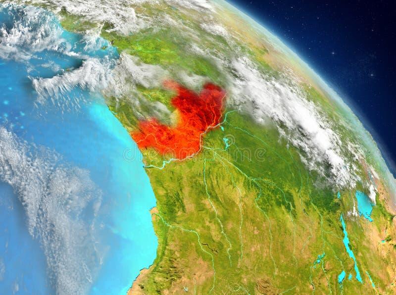 Κονγκό από την τροχιά στοκ εικόνες με δικαίωμα ελεύθερης χρήσης