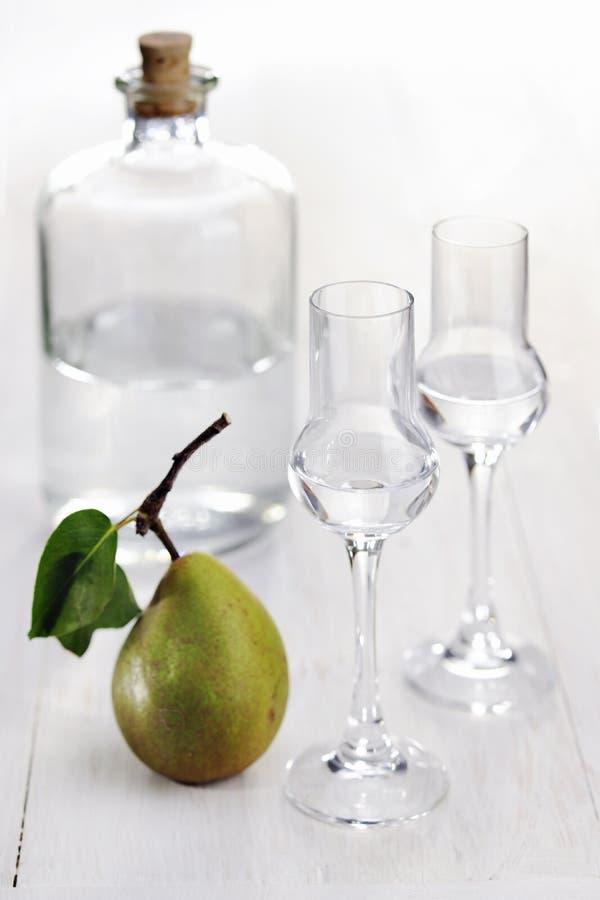 Κονιάκ φρούτων, αχλάδι στοκ εικόνες με δικαίωμα ελεύθερης χρήσης
