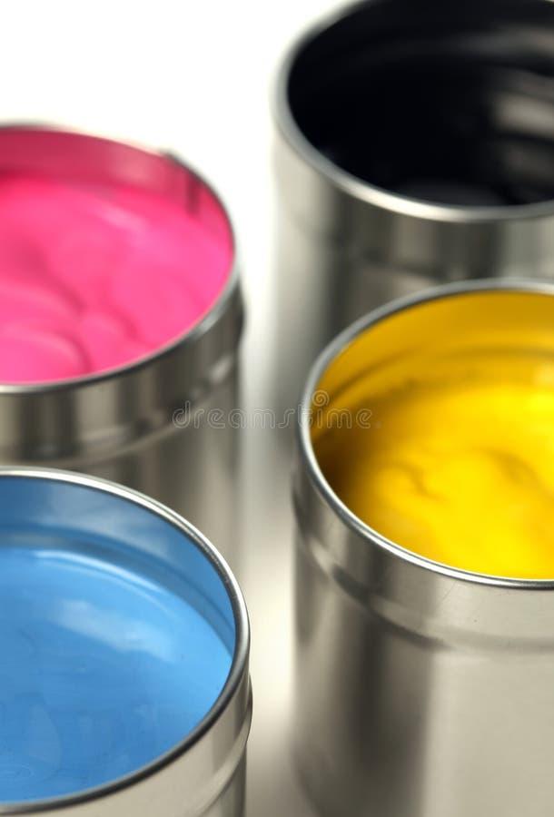 κονσερβοποιεί cmyk το χρώμα στοκ εικόνες