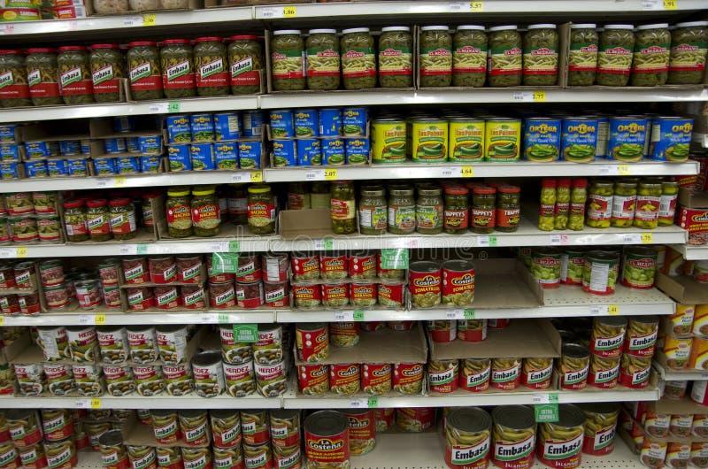 Κονσερβοποιημένα μεξικάνικα τρόφιμα πιπεριών στοκ φωτογραφία με δικαίωμα ελεύθερης χρήσης