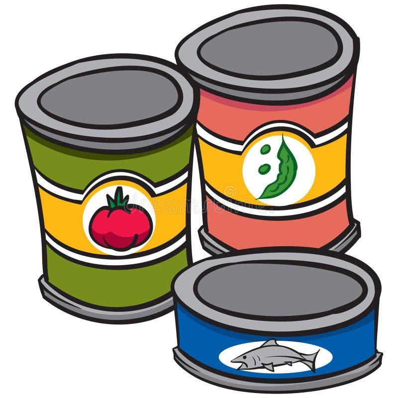 κονσερβοποιημένα τρόφιμα ελεύθερη απεικόνιση δικαιώματος