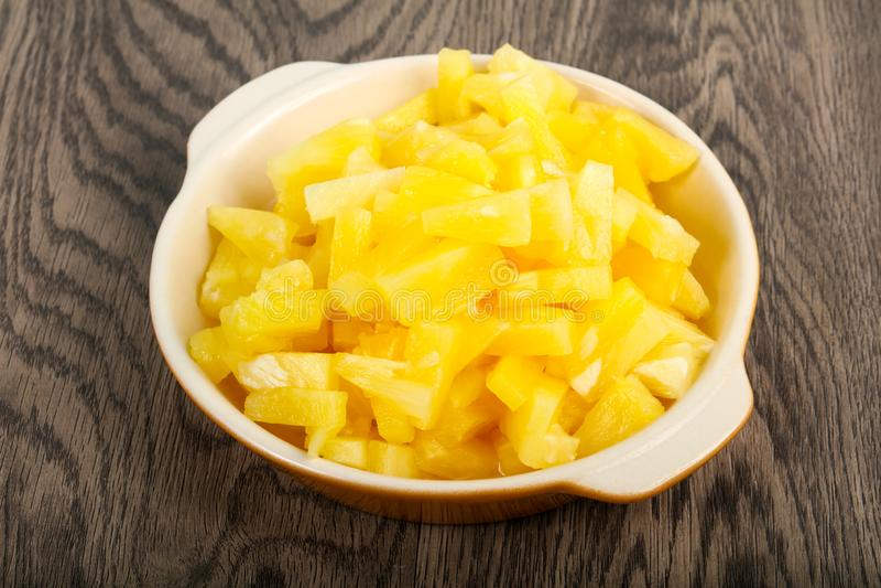 Κονσερβοποιημένος ανανάς στοκ φωτογραφία