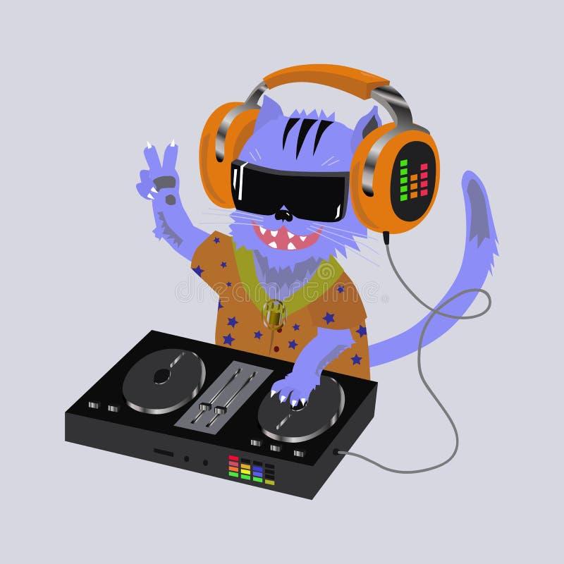 Κονσόλα του DJ γατών στοκ εικόνες