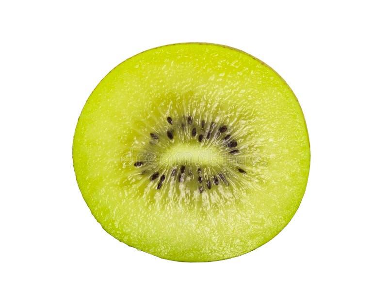 Κοντινό πλάνο πράσινου ακτινιού με ώριμο φέτες που έχουν απομονωθεί σε λευκό φόντο στοκ φωτογραφία με δικαίωμα ελεύθερης χρήσης