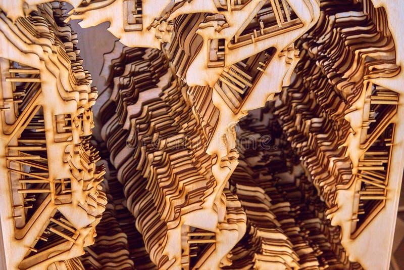 Κοντραπλακέ που κόβεται από το λέιζερ στοκ εικόνες