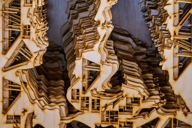 Κοντραπλακέ που κόβεται από το λέιζερ στοκ εικόνα