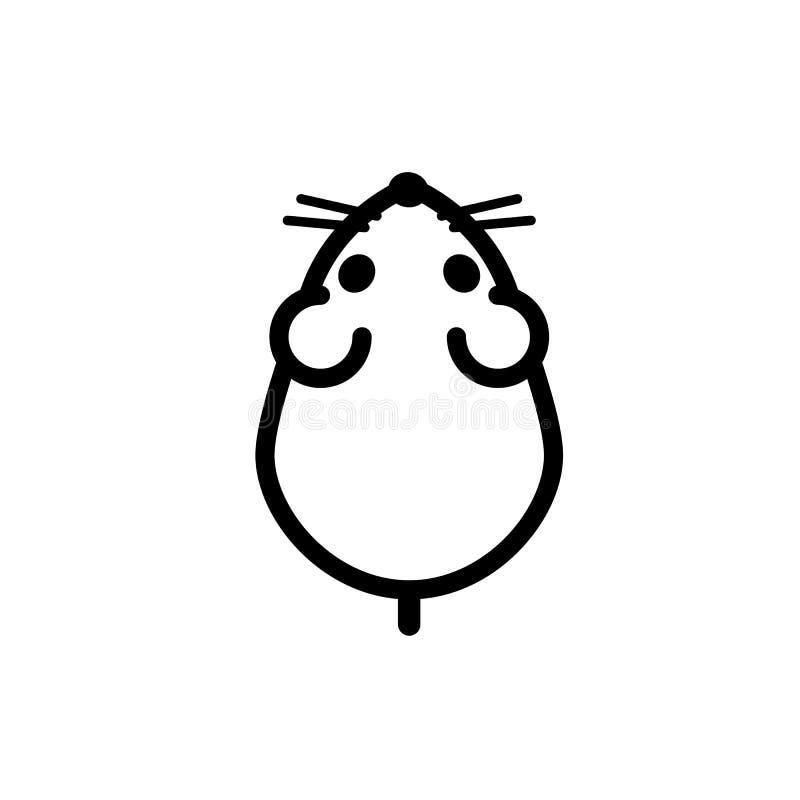 Κοντός-παρακολουθημένο τρωκτικό, σπιτικό gungari χάμστερ Εικονίδιο Minimalistic απεικόνιση αποθεμάτων