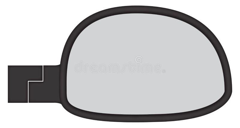 Κοντόχοντρος δευτερεύων καθρέφτης αυτοκινήτων ελεύθερη απεικόνιση δικαιώματος