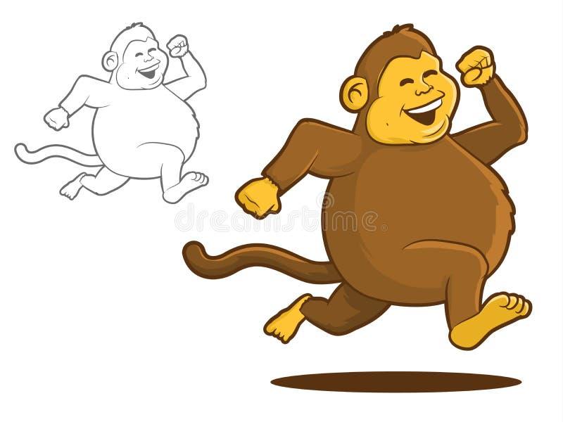 Κοντόχοντρος πίθηκος ελεύθερη απεικόνιση δικαιώματος