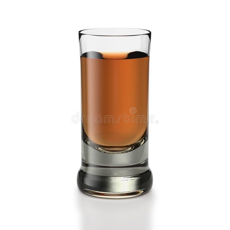 κοντό ουίσκυ τύπων ρουμιού γυαλιού ποτών ελεύθερη απεικόνιση δικαιώματος