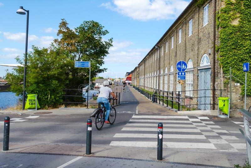 Κοπεγχάγη, Δανία - 9 Ιουλίου 2018 Κύκλος της Κοπεγχάγης Πορείες ποδηλάτων Μεταφορά στοκ εικόνα με δικαίωμα ελεύθερης χρήσης