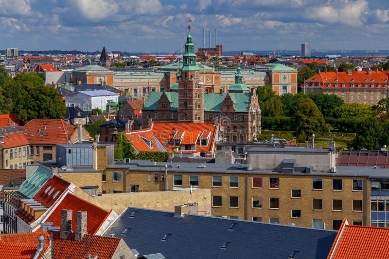 Κοπεγχάγη Εναέρια άποψη της πόλης στοκ φωτογραφία