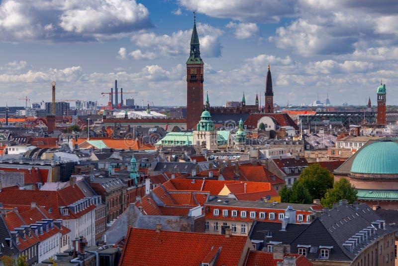 Κοπεγχάγη Εναέρια άποψη της πόλης στοκ φωτογραφία με δικαίωμα ελεύθερης χρήσης